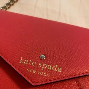COPY - Small Kate Spade Cross Body Clutch - Red
